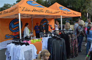 Shirts, clothing and souvenirs at the Stone Crab Jam